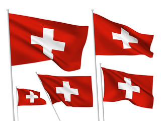 Switzerland vector flags