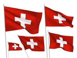 Switzerland vector flags