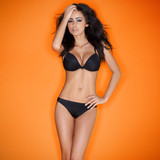 Hot sensual brunette young woman