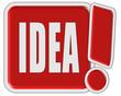 !-Schild rot quad IDEA