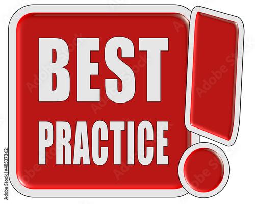 !-Schild rot quad BEST PRACTICE