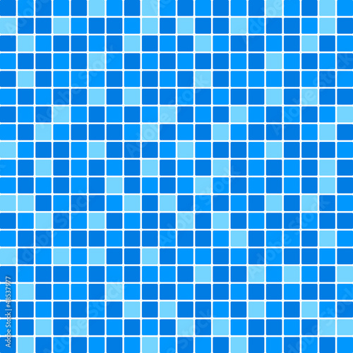 Vector blue tile wall
