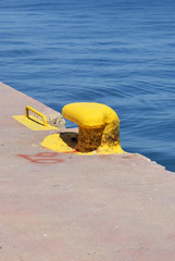pier painted in yellow