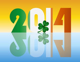 New Year 2014 Ireland Flag Illustration