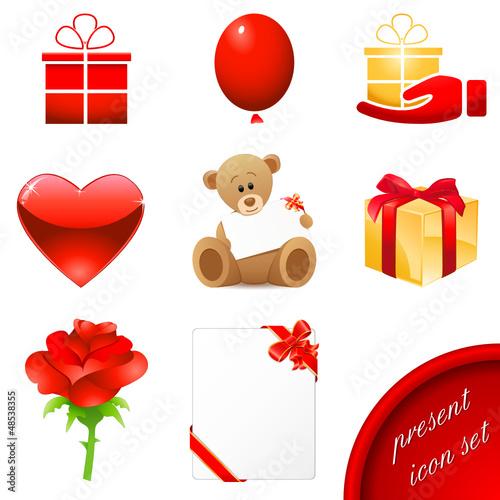 Geschenke Set - present icon set