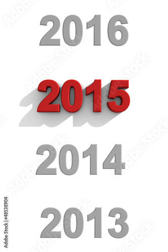 poster of 2015 New Year sequential dates