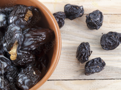 the stuffed prunes on a plate