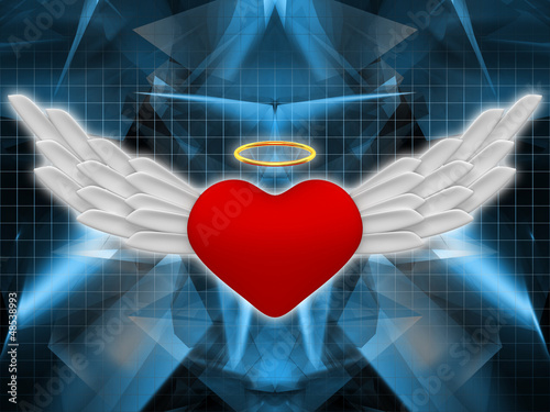 canvas print picture Angel heart
