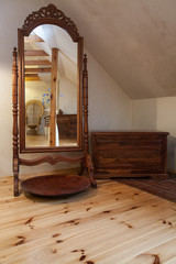 Cloudy home - antique mirror