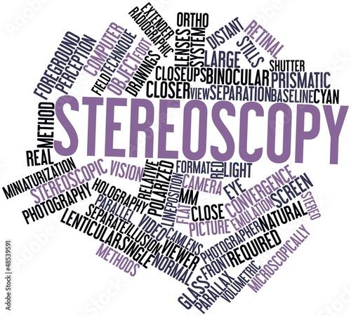 Word cloud for Stereoscopy