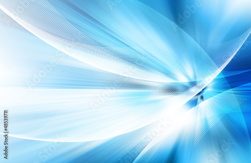 canvas print picture Abstract blue background