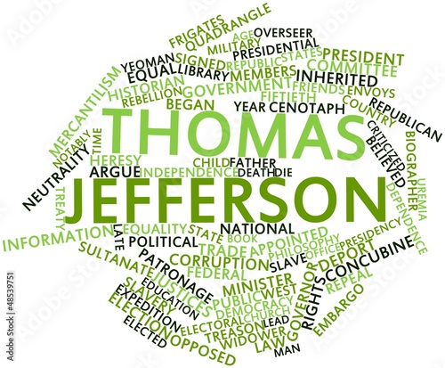 Word cloud for Thomas Jefferson