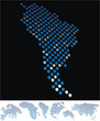 abstract South America map