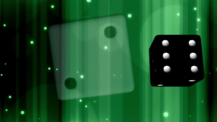 Gambling Dice Green Looping Animated Background