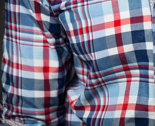 Checked pattern shirt