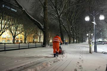 Winterdienst auf der Königsallee