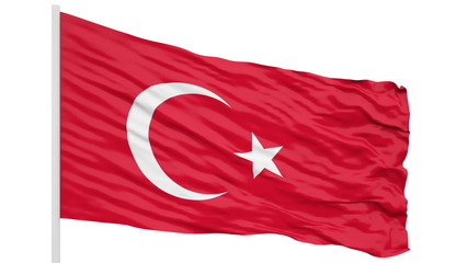 3d seamless looping of the Turkey flag