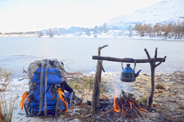 Camping kettle & Embers Tea