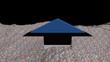 Estonia flag arrow in abstract ocean of Euros animation
