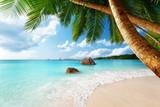 Anse Lazio beach on Praslin island in Seychelles - Fine Art prints