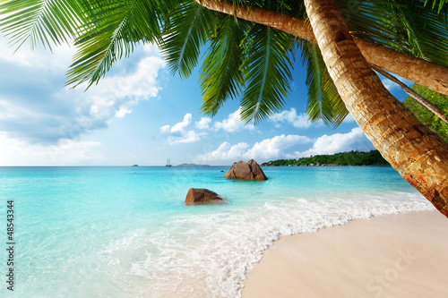 Aluminium Meest verkochte foto's Anse Lazio beach on Praslin island in Seychelles