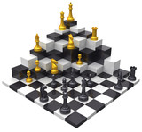 Chess game win 3D challenge