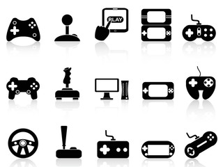 video game and joystick icons set