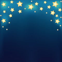 Background with shiny cartoon stars
