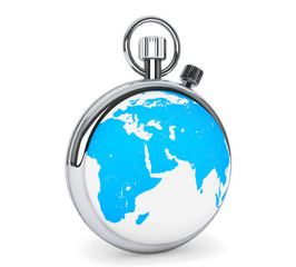 Stopwatch as earth globe
