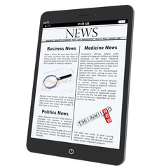 Tablet PC with News