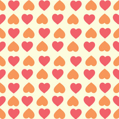 red and orange hearts background