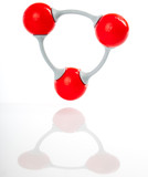 Molecule model of ozone O3 poster