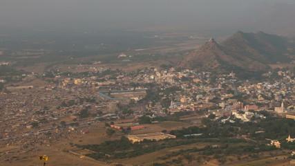 Pushkar panorama. Timelapse