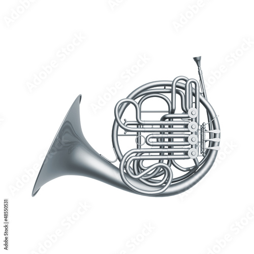 silver french horn