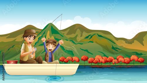 Having fun while fishing