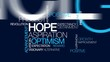 Hope aspiration vision word tag cloud animated video