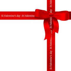 バレンタイン ハート 赤 リボン