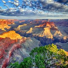 lumière du matin au Grand Canyon