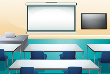 Clean and ogranized classroom
