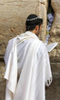 Jewish worshiper pray at the Wailing Wall. Jerusalem, Israel.