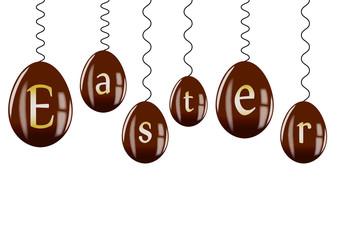 Frise oeufs en chocolat - Easter - Pâques
