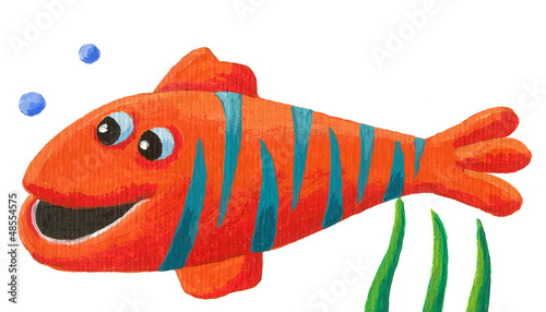 Funny striped fish