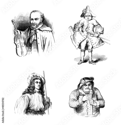 4 Actors - Comédiens - Renaissance