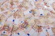 Euro Banknotes lying on ground