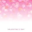 Beautiful Valentines Day background with hearts having transpare