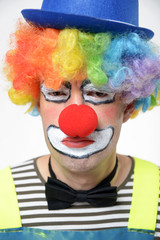 Enttäuschter Clown