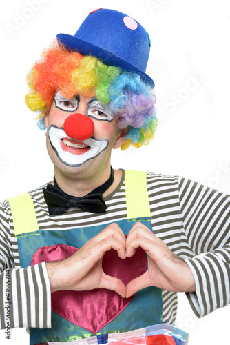 Verliebter Clown