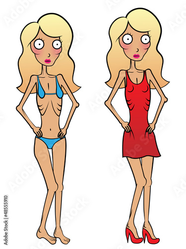 Young woman problem with anorexia