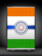 Indian flag background on roll up stand. EPS 10.