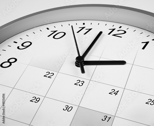 clock face and calendar. time management concept.